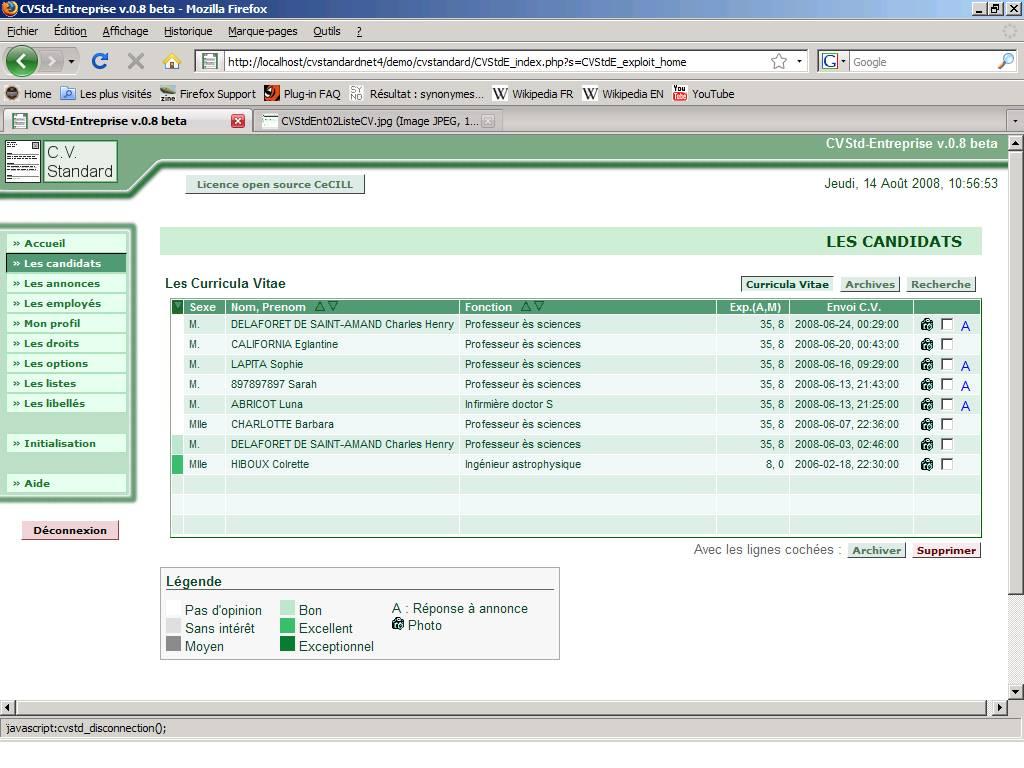 cvstandard   web application